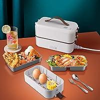 Bento Lunch Box,Gamelle Chauffante Electrique,220V 300W 0.8L Boite qui Garde Termosse Repas Chaud,2 Couches Compartiment…