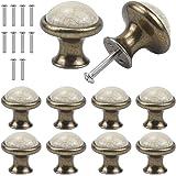 Jinlaili Vintage kabinet knoppen, 33MM keramische knoppen, Vintage Shabby Chic ronde lade knoppen, keuken kast lade deur knop