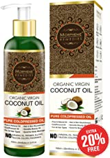 Morpheme Remedies Pure Cold Pressed Organic Virgin Coconut Oil for Hair and Skin, 120ml