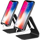 COOLOO Support Téléphone, Lot de 2, Compatible Phone Support de Bureau Dock pour Tablette commutateur Smartphone Android Compatible Phone XR XS Max X 8 7 6S Plus 5S