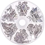 PandaHall Elite Circa 51pcs 6 Stile Angelo Custode Charms ciondoli Tibetano pendanti in Lega ciondoli per Bomboniere creazion