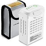 Powerextra 5350mAh Li-Polymer Ersatzakku(15,2 V) für DJI Phantom 4 Pro +, Phantom 4 Pro, Phantom 4 Advanced, Phantom 4