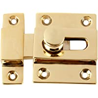 Ruhi Collections Brass Baby Latch Set of 2 [3 inches] Polished and Lacquered