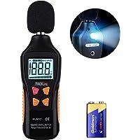 TACKLIFE Sonomètre 30 DB - 130 DB MLM02 Décibelmètre/Testeur de Décibel/ 2 Modes Gamme Rapide/Lent/Écran Rétroéclairé et Numérique/Pile 9V Fournie/Précision: ± 1,5 DB