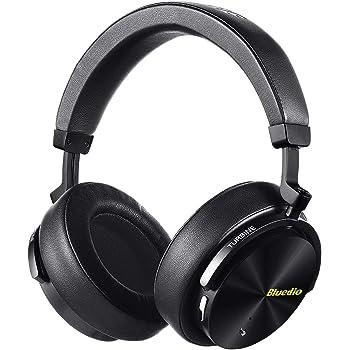 Bluedio T5 Cuffie Bluetooth Circumaurali con Cancellazione Attiva del  Rumore 1cec803de31d