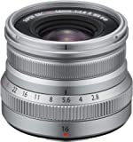 Fujinon XF16mm F2.8 R Weather Resistant Lens, Silver