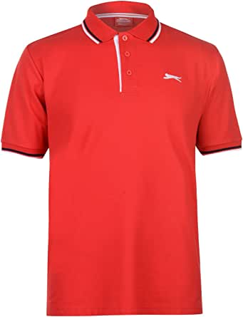 Slazenger Men's Polo Shirt, Short-Sleeved, Striped Details