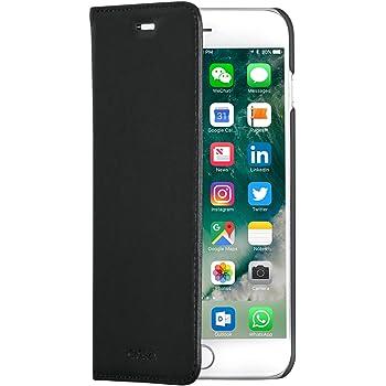CASEZA Etui iPhone 8 Plus Etui iPhone 7 Plus Noir Oslo Coque Cuir  Végétalien Housse 706285af5eb