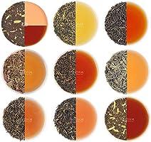 Assortiment de Feuilles de Thé en vrac - 10 thés, 50 portions - Thé Noir, Thé Vert, Thé Oolong, Thé Chai, Thé Blanc |...