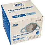JINLU Maschera Protettiva FFP2 / KN95 CERTIFICATA CE, confezione da 25 pezzi
