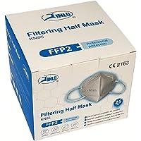 JINLU Maschera Protettiva FFP2 / KN95 CERTIFICATA CE, confezione da 25 pezzi (Con nasello esterno) in vendita esclusiva…