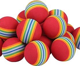 Andux confezione de 12 palline da golf in schiuma per allenamento CHQ rosso