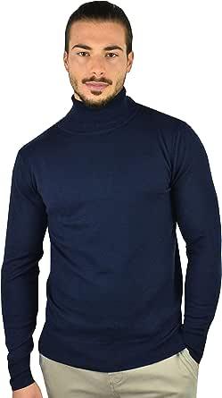 1stAmerican Maglia Dolcevita in Cashmere e Seta da Uomo Manica Lunga - Pullover Invernale con Collo Alto Finezza 14