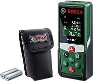 Bosch laserafstandsmeter PLR 30 C (App-functie, 3x AAA batterijen, beschermtas, meetbereik: 0,05-30 m)