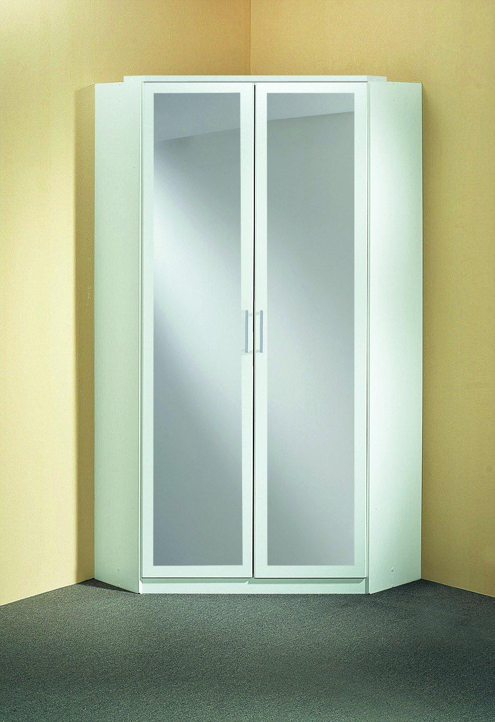 Wimex 147543 Eck-Kleiderschrank, 95 x 198 x 95 cm, 2-türig mit ...