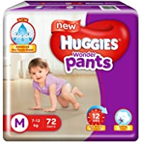 Huggies Wonder Diapers Pants, Medium (Pack of 72)