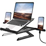 Laptop Stand,Multi-Angle Adjustable Laptop Stand with Heat-Vent ,Ergonomic Computer Stand Laptop Riser for Desk Compatible wi