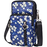 PALAY® Small Cross Body Bag,Multifunctional 3 Layers with Bow Pattern Sling Bag for Women Girls,Accommodate Phones Less Than