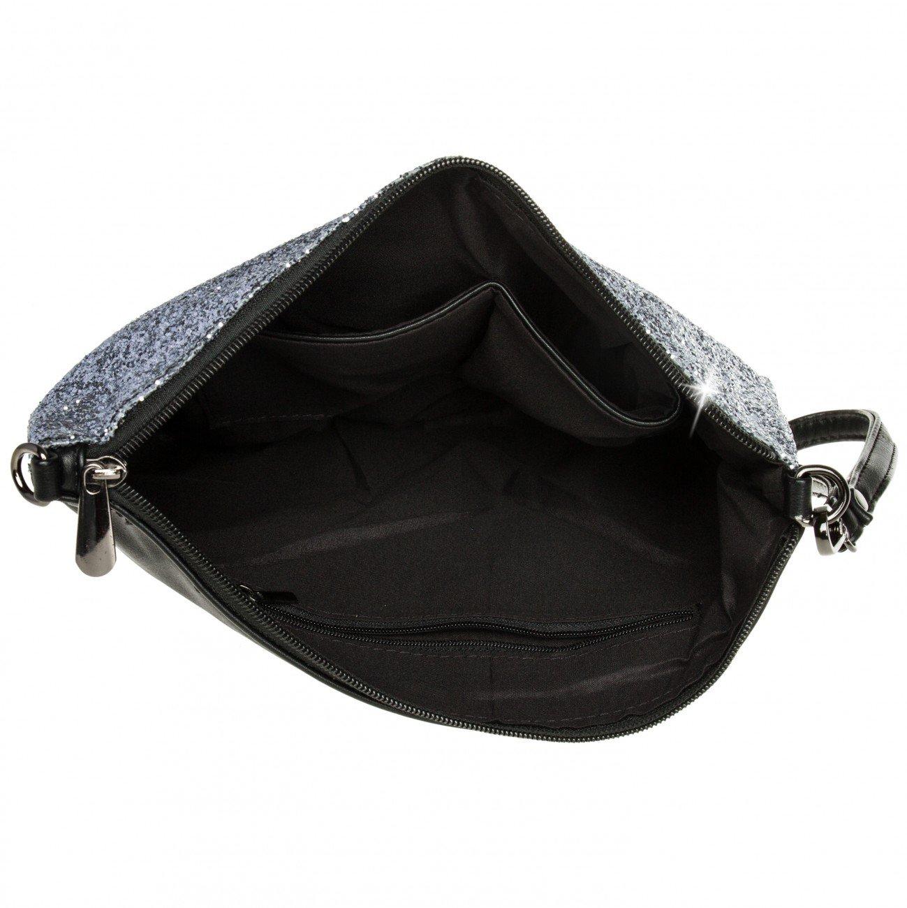 71eAZGiY8ZL - Caspar TA341 Bolso de Mano Fiesta XL para Mujer Clutch Brillante con Lentejuelas