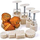 Set di 4 stampini per mooncakes, con 12 stampe diverse, per la festa di metà autunno
