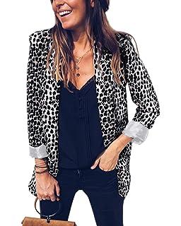 Carolilly Femme Chic Veste de Tailleur Pailletée Blazers