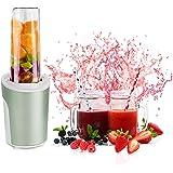 Venga! 2-en-1 Smoothie Blender et Mixeur, Avec Bouteille transportable en Tritan BPA-Free de 600ml, 2 Jars en Verre avec couv