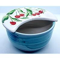 Sponzapane Cola Mozzarelle Cola Olive Linea Ciliegie Realizzato a Mano Le Ceramiche del Castello Made in Italy