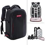 Beschoi DSLR Kamera-Rucksack, Wasserdichte Fotorucksack Kameratasche für Sony Canon Nikon Olympus SLR/DSLR Kamera, Objektiv und Zubehör, groß (schwarz).