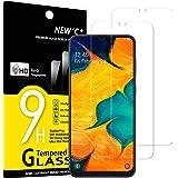 NEW'C 2 Pezzi, Vetro Temperato Compatibile con Samsung Galaxy A30, Galaxy M30, Galaxy M30s, Pellicola Prottetiva Anti Graffio