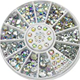 S.A.V.I 1 Pc. DIY 3D Nail Art Manicure Decoration Wheel Acrylic Crystal Glitter Rhinestones - 12 Styles (26), Multicolor…