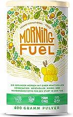 Morning Fuel | Frühstücksmischung mit Mikro- & Makronährstoffen | Quinoa, Chia, MCT Öl, Erbsenprotein, Hafer, Algen, Alfalfa, Spinat, Maca | Vitamine B6 + B12 | 600g Pulver mit Vanille