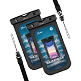 Seneo Pochette Etanche Smartphone Housse Étanche Smartphone,Certifiée par IPX8 Pochette Téléphone Étanche pour Téléphone Jusq