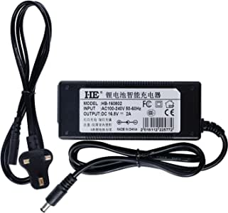 HEBANG 16,8V 2A Three-Stages Lithium Chargeur de Batterie 14.4V 14.8V Chargeur de Batterie 1450014650174901850018650Batterie au Lithium polymère 26500Lot DC Chargeur Interface