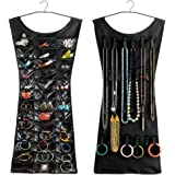 Inditradition Little Black Dress Accessories Organizer, Double Sided (Black)