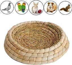 Gladot Handwoven Birds Nest Mais Blätter und Stroh Inkubation Bett Werbung Zuchthaus für Taube/Zwerg Kaninchen/Bunny / Taube/Hamster / Gerbil/Chinchillas / Meerschweinchen