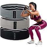 Stoffen weerstandsbanden voor dames, trainingsoefeningen voor benen en billen, set van 3 weerstandsniveaus buizband voor heup