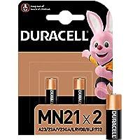 Duracell MN21 Pile Alcaline 12V, Lot de 2 ( A23 / 23A / V23GA / LRV08 / 8LR932 ), pour Télécommandes, Sonnettes de Porte…
