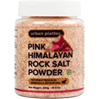 Urban Platter Pink Himalayan Rock Salt Powder Jar, 300g