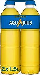 Aquarius Naranja - Bebida funcional con sales minerales, baja en calorías - Pack 2 botellas 1.5L