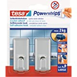tesa Powerstrips Hooks Large CLASSIC Chrome