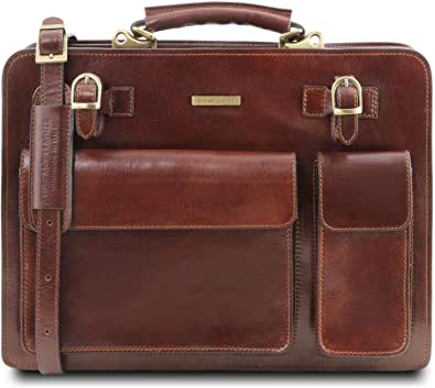 Tuscany Leather Venezia Cartella in pelle 2 scomparti con zip