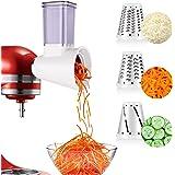 aikeec Améliorer Tranchoir/Râpe à Cylindres pour Kitchen Aid, pour Préparations Fraîches pour Robot Pâtissier (Accessoire en