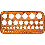 Graphoplex GXST1315F Trace cercles pairs/impairs Orange Transparent