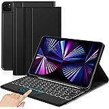 Sross-TEC Funda con Teclado Compatible con Nuevo iPad Pro 11 2021, Español Ñ Teclado con Touchpad, Negro(Solo para el Modelo