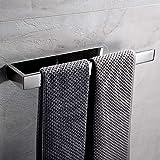 Lolypot Porte serviette auto-adhésif, Anneaux Porte-serviettes en acier inoxydable sans perçage, support de serviettes WC Acc