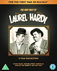 The Very Best of Laurel & Hardy: Complete 5 Movies Collection - Block-Heads + Our Relations + Pardon Us + Sons of the Desert + Way Out West (3-Disc Box Set) (Slipcase Packaging + Region Free) (Fully Packaged Import)