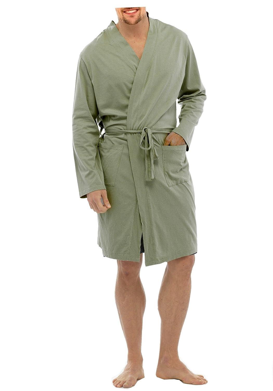 BrandBuys Mens Lightweight 100% Cotton Lounge Wear Jersey Wrap ...