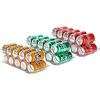 Puricon Frigo 3 Pièces pour Boisson, Soda, Coca Cola, Bière, Organisateur de Réfrigérateur, Tiroir Distributeur de…