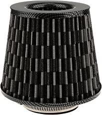 Generic Automotive Air Filter Round Tapered Universal Cold Air Intake - carbon fiber