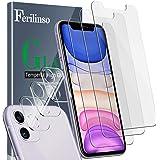 Ferilinso [6 Pack] 3 Piezas Protector de Pantalla para iPhone 11 Cristal Templado + 3 Piezas Protector cámara iPhone 11 Prote